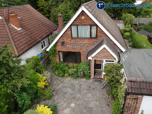 Aerial view detached house